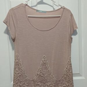 Maurices baby pink crocheted top Size Medium